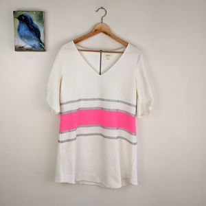 Anthropologie Deletta tunic/dress, white and pink
